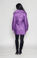 Womens Luxury Shot Silk Short Lilac Coat db294
